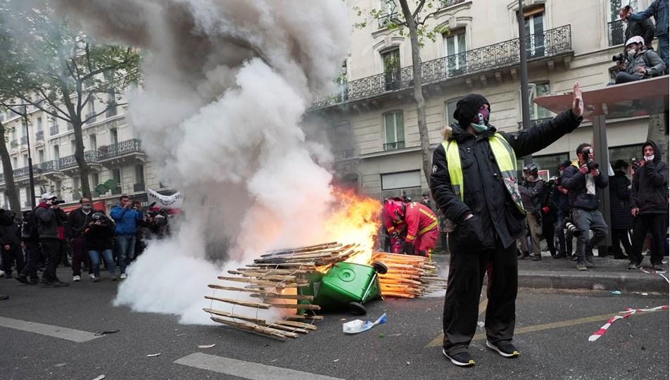 Fransa'da olaylı 1 Mayıs: 39 kişi gözaltına alındı