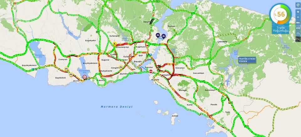 İstanbul trafiğinde 08.30 itibariyle son durum.