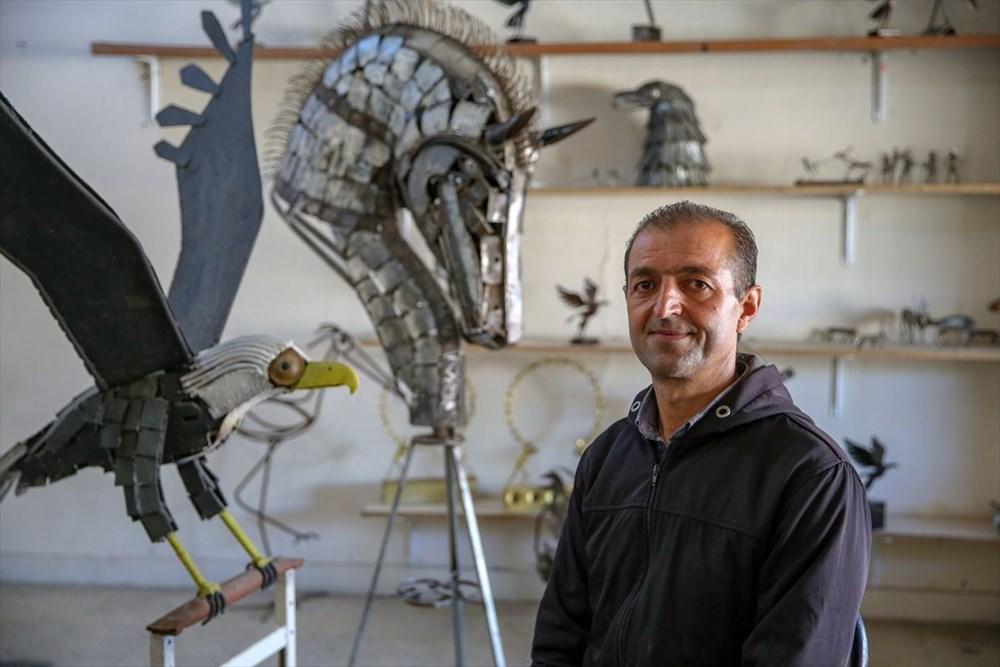 İranlı heykeltıraş Ali Mutii hurdaları sanata dönüştürüyor - 5