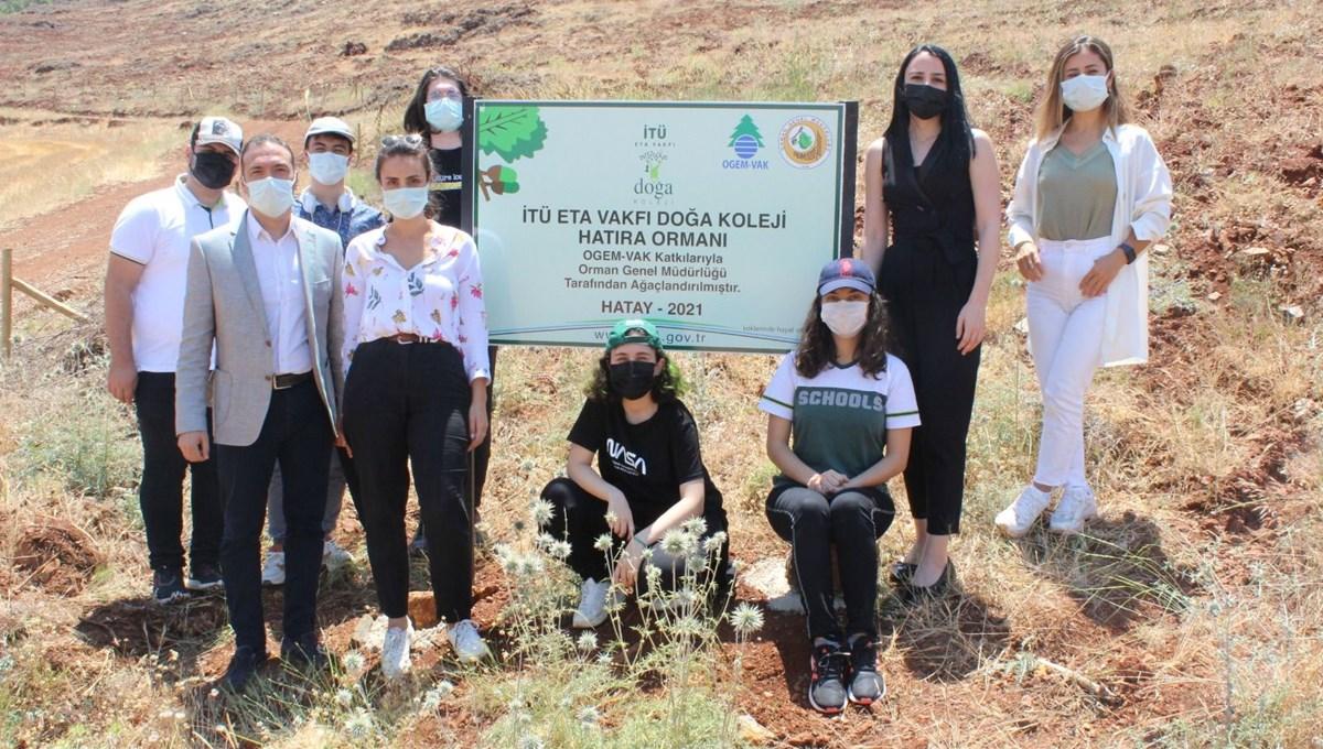 İTÜ ETA Vakfı Doğa Koleji, yanan ormanların ardından Hatay'a nefes oldu