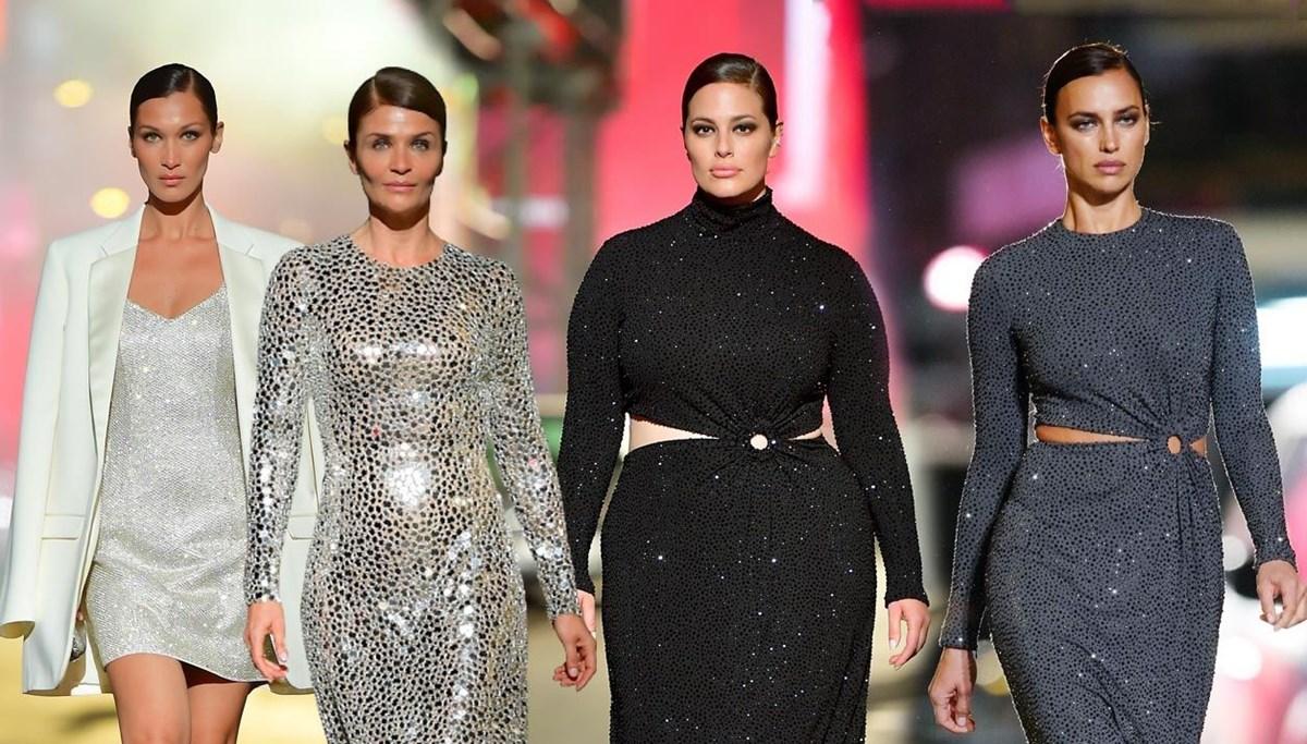 Ünlü modeller Times Meydanı'nda boy gösterdi