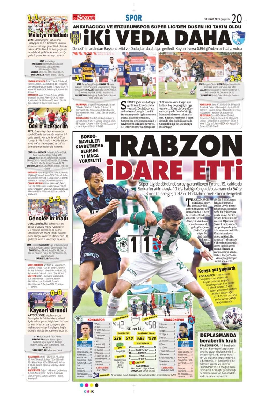 Günün spor manşetleri (12 Mayıs 2021) - 11