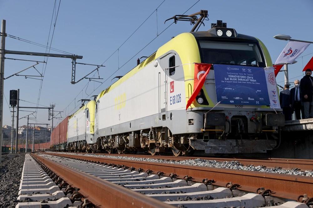 Türkiye'den Çin'e gidecek ilk ihracat treni İstanbul'dan uğurlandı - 7