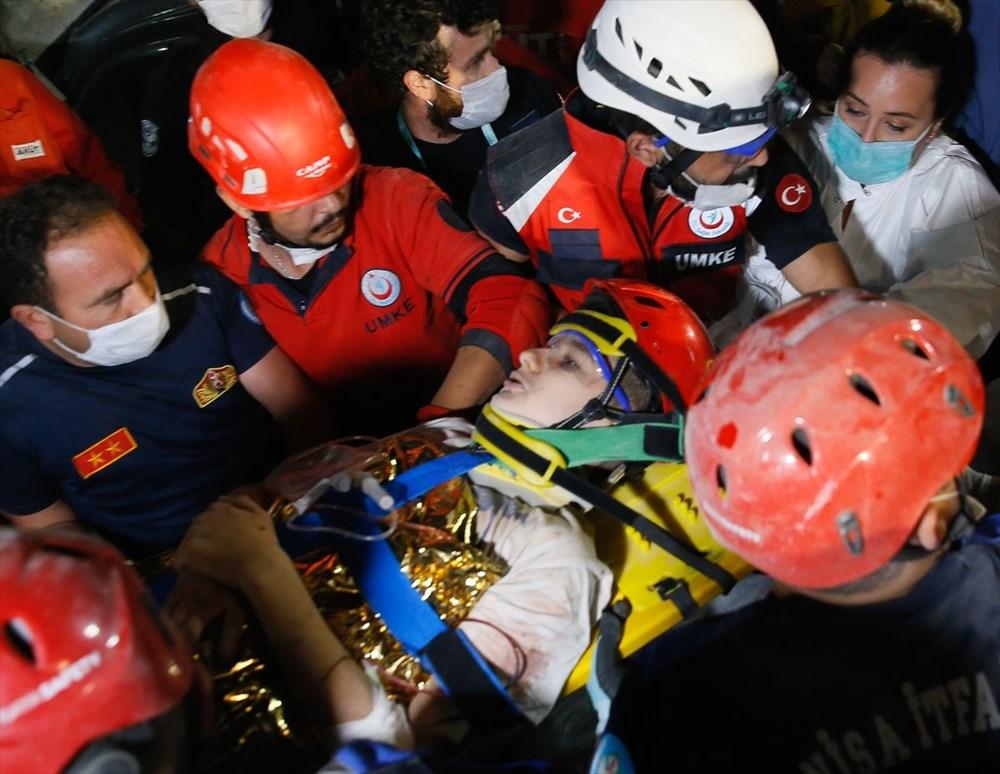 İzmir'de deprem sonrası enkaz altındakiler için zamana karşı yarış (58 saat sonra kurtarıldı) - 21