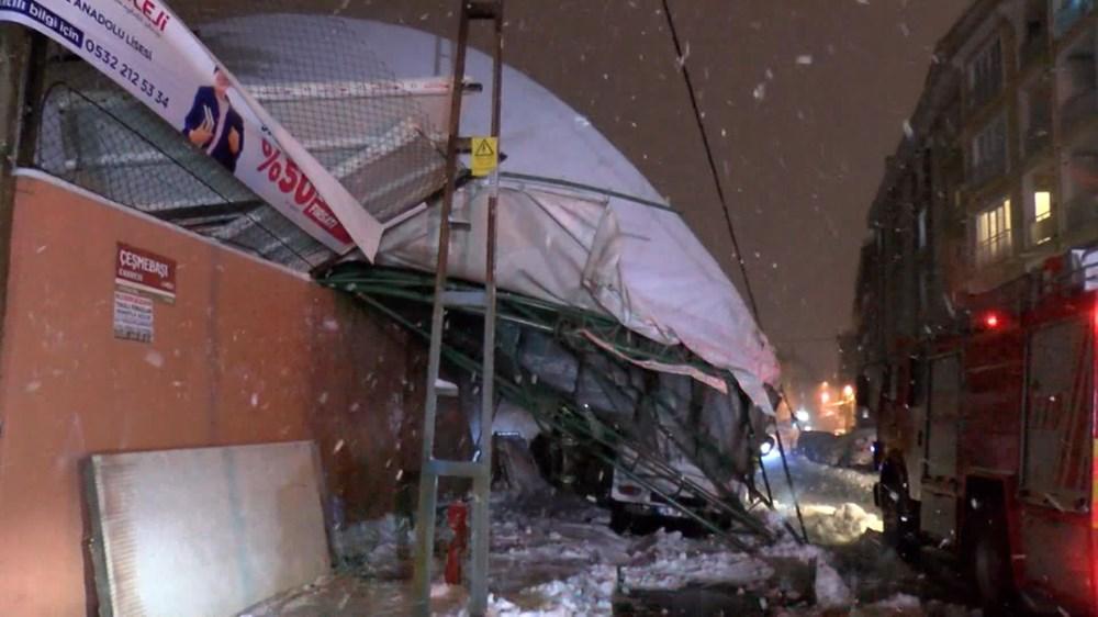 İstanbul'da kar yağışı devam ediyor (AKOM ilçe ilçe kar kalınlıklarını paylaştı) - 6