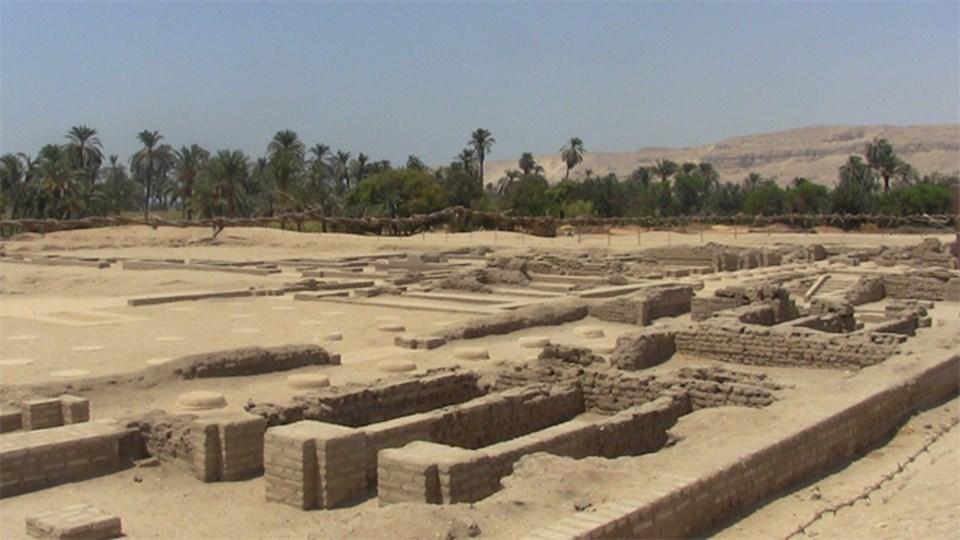 Amarna'nın günümüze ulaşan kalıntılarından bir kısmı.