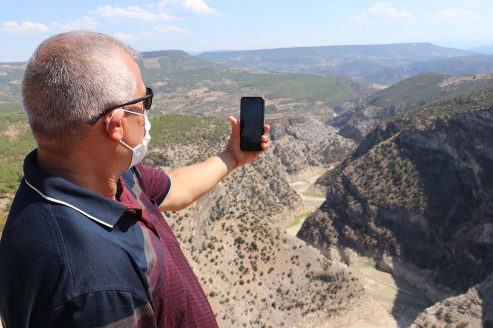 Doğa harikası İnceğiz Kanyonu'nun suyu çekildi - 15