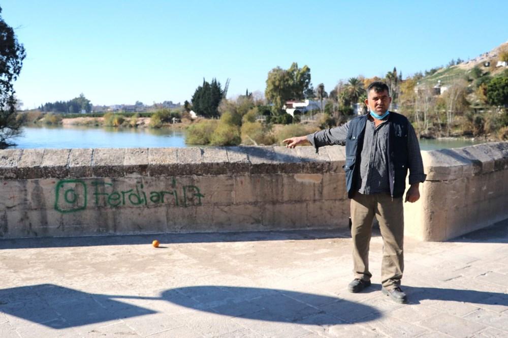 Misis Köprüsü'ne sprey boya ile yazı yazdılar - 6