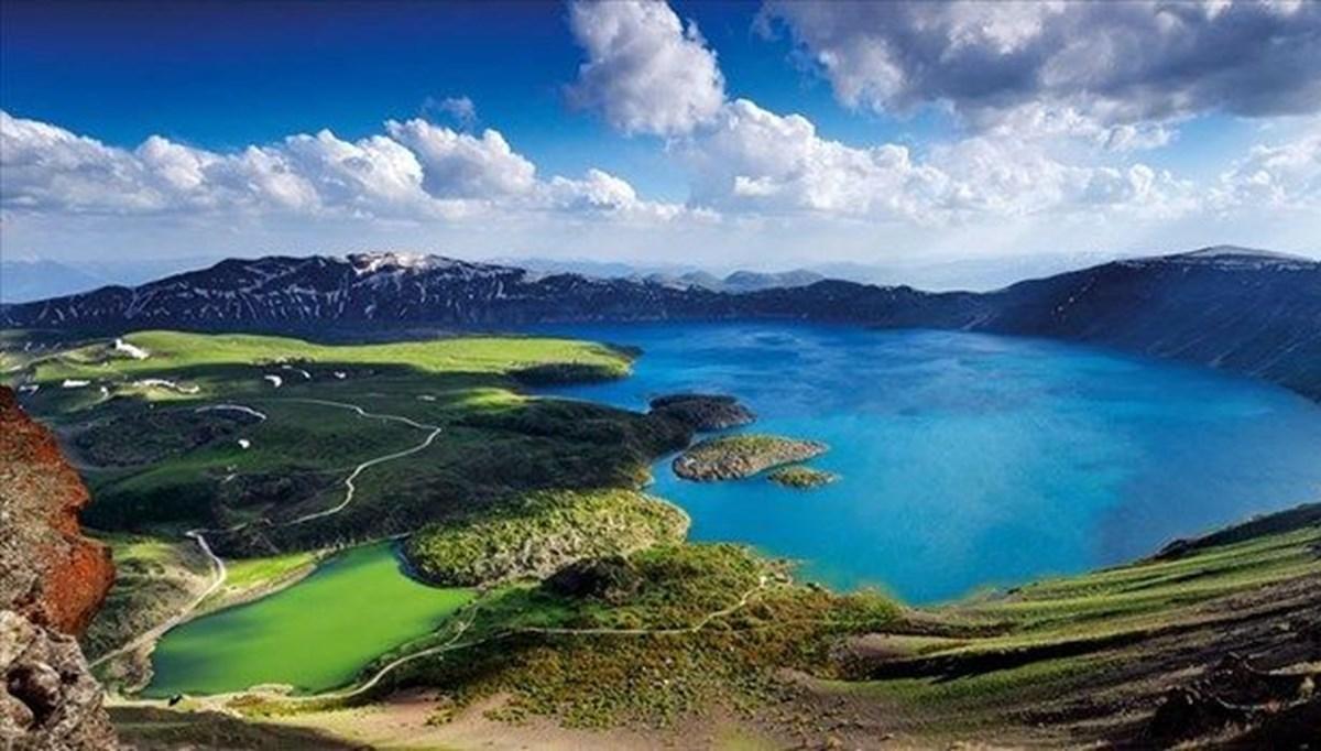 Kampçıların yeni rotası: Dünyanın en büyük 2. krater gölü Nemrut