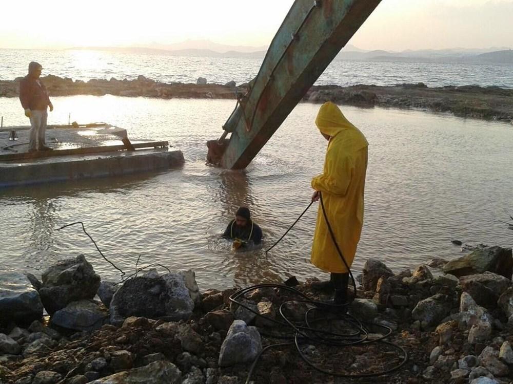 Bodrum'da deniz altında kaçak yapı - 7