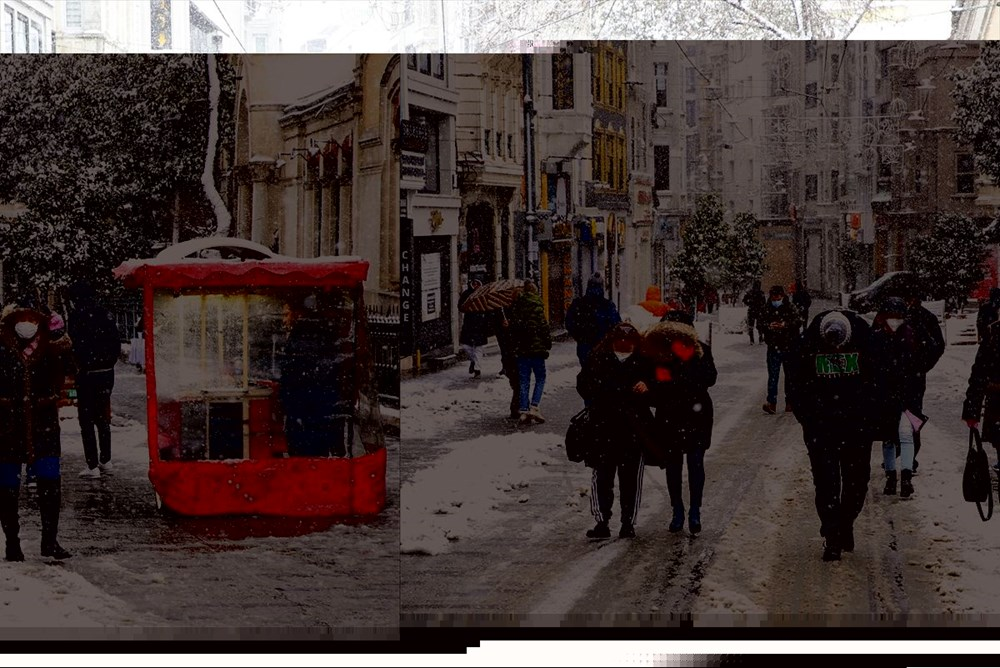 İstanbul'da kar yağışı devam ediyor - 32