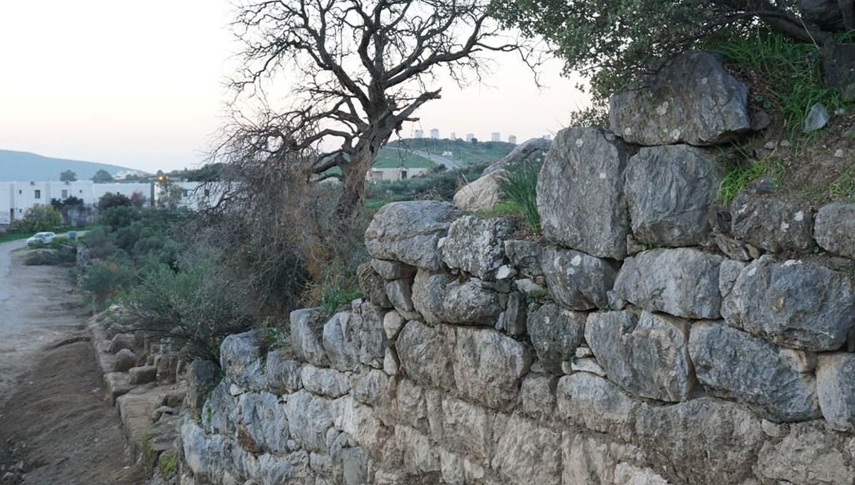 Bodrum'da 2400 yıllık tarihi Halikarnassos Surları gün yüzüne çıkıyor