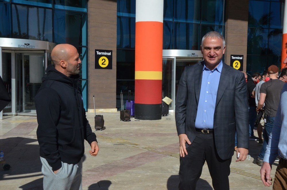 Bakan Mehmet Nuri Ersoy'dan Five Eyes film setine sürpriz ziyaret - 2