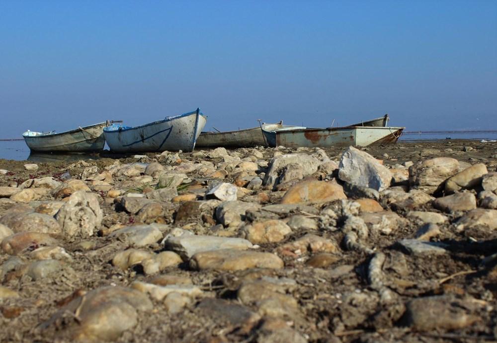 'Kuş cenneti' Marmara Gölü'nde derinlik 40 santimetreye düştü - 13