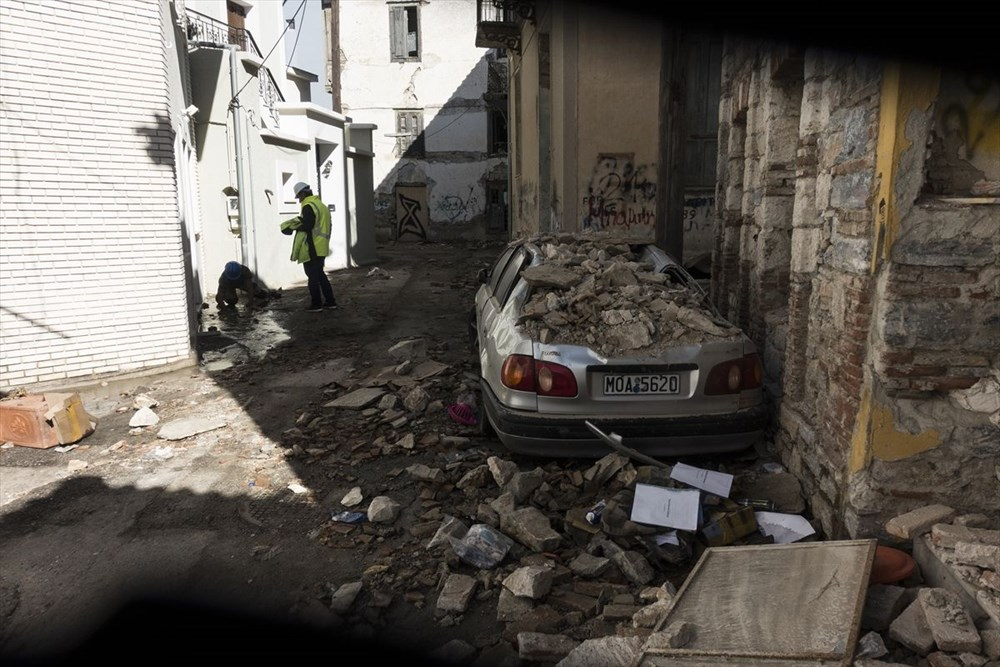 Depremin vurduğu Yunan adası Sisam'da son durum - 24