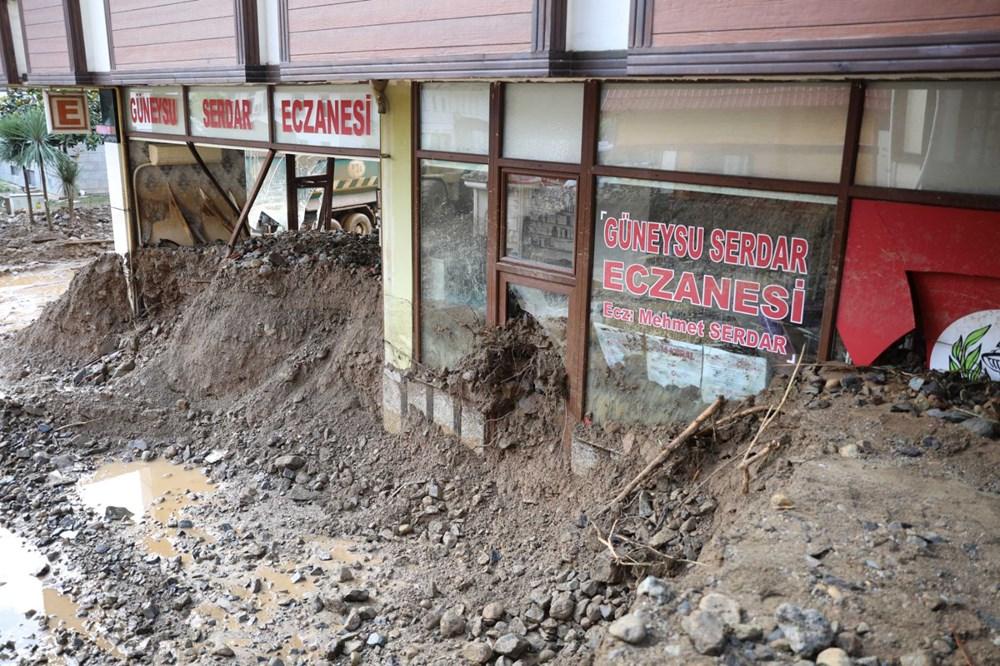 Rize'de sel ve heyelan afetinin hasarı gün ağarınca ortaya çıktı - 20
