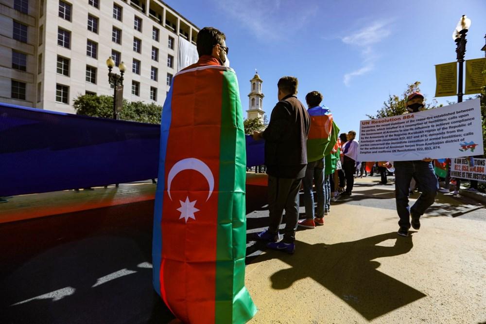 Beyaz Saray önünde Azerbaycan'a destek mitingi düzenlendi - 11