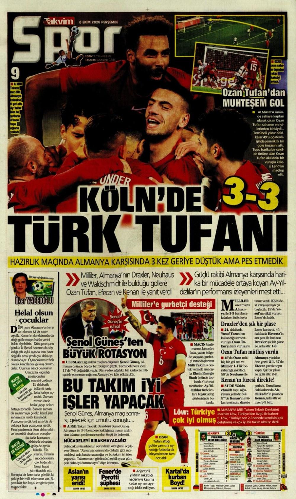 Günün spor manşetleri (8 Ekim 2020) - 13