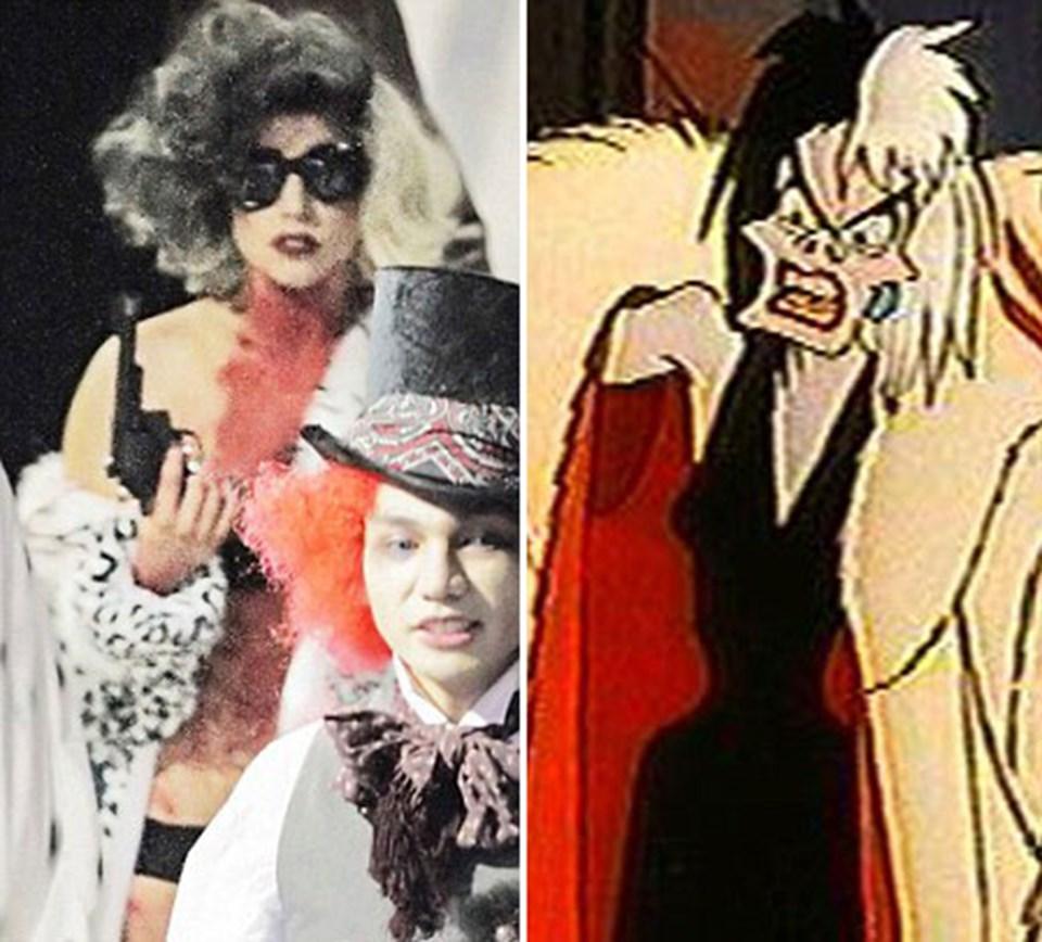 Gaga Disney çizgi filmlerinin kötü kadını Cruella'ya kendi yorumunu getirdi
