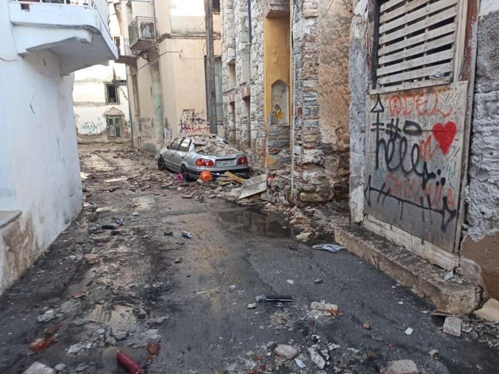 Depremin vurduğu Yunan adası Sisam'da son durum - 9