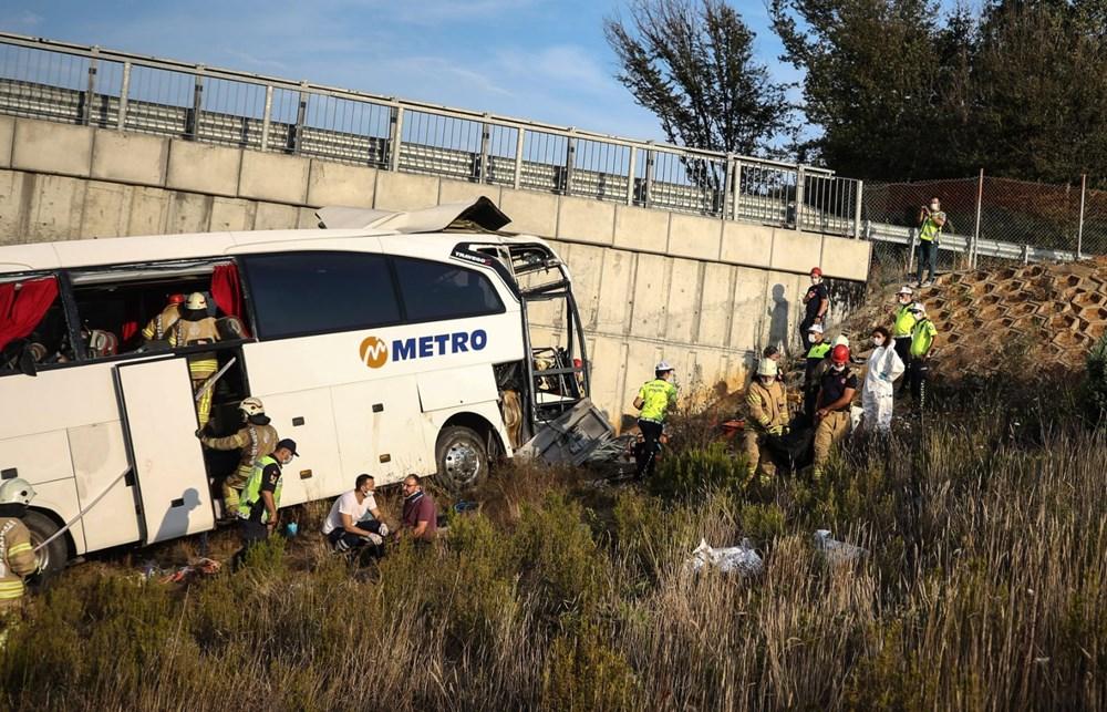 Kuzey Marmara Otoyolu'nda otobüs yoldan çıktı: 5 ölü, 25 yaralı - 16