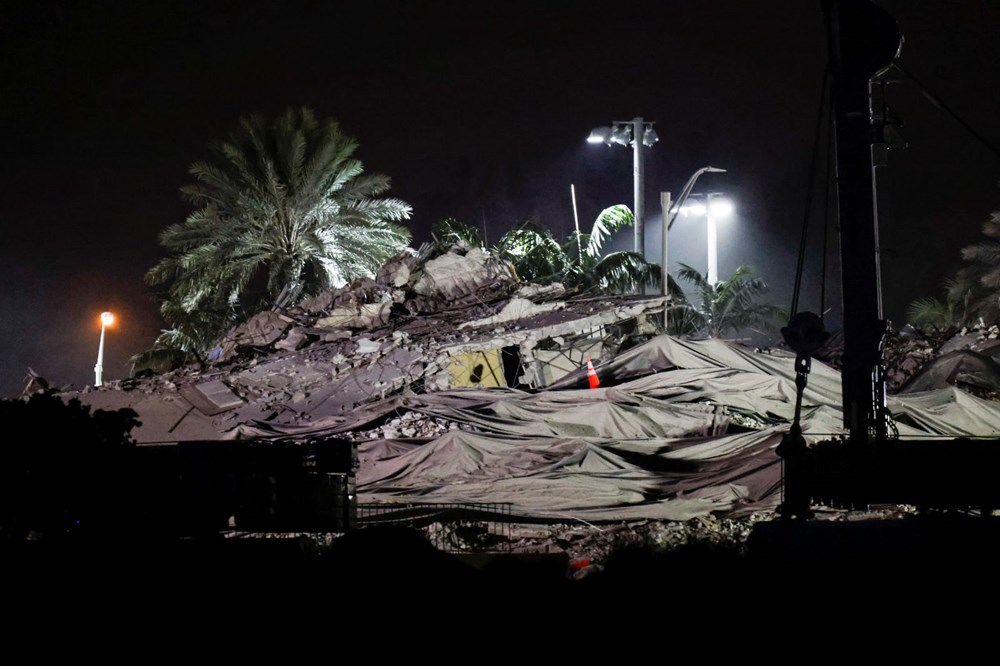 The rest of the collapsed building in Miami was demolished - 7
