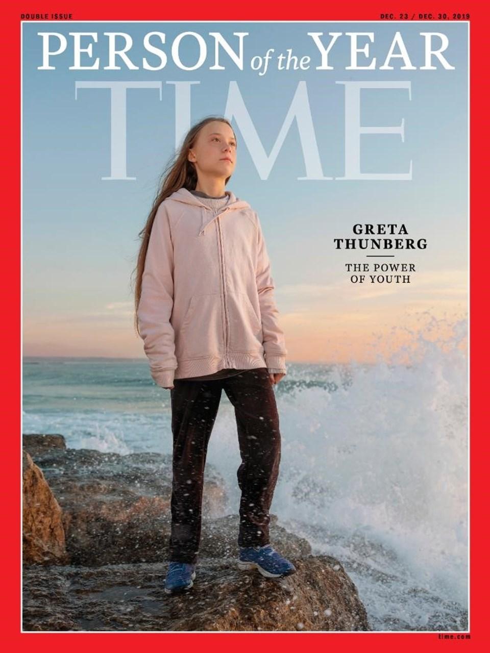 TIME, 'yılın kişisi' seçilen Greta'yı bu kapak ile duyurdu.