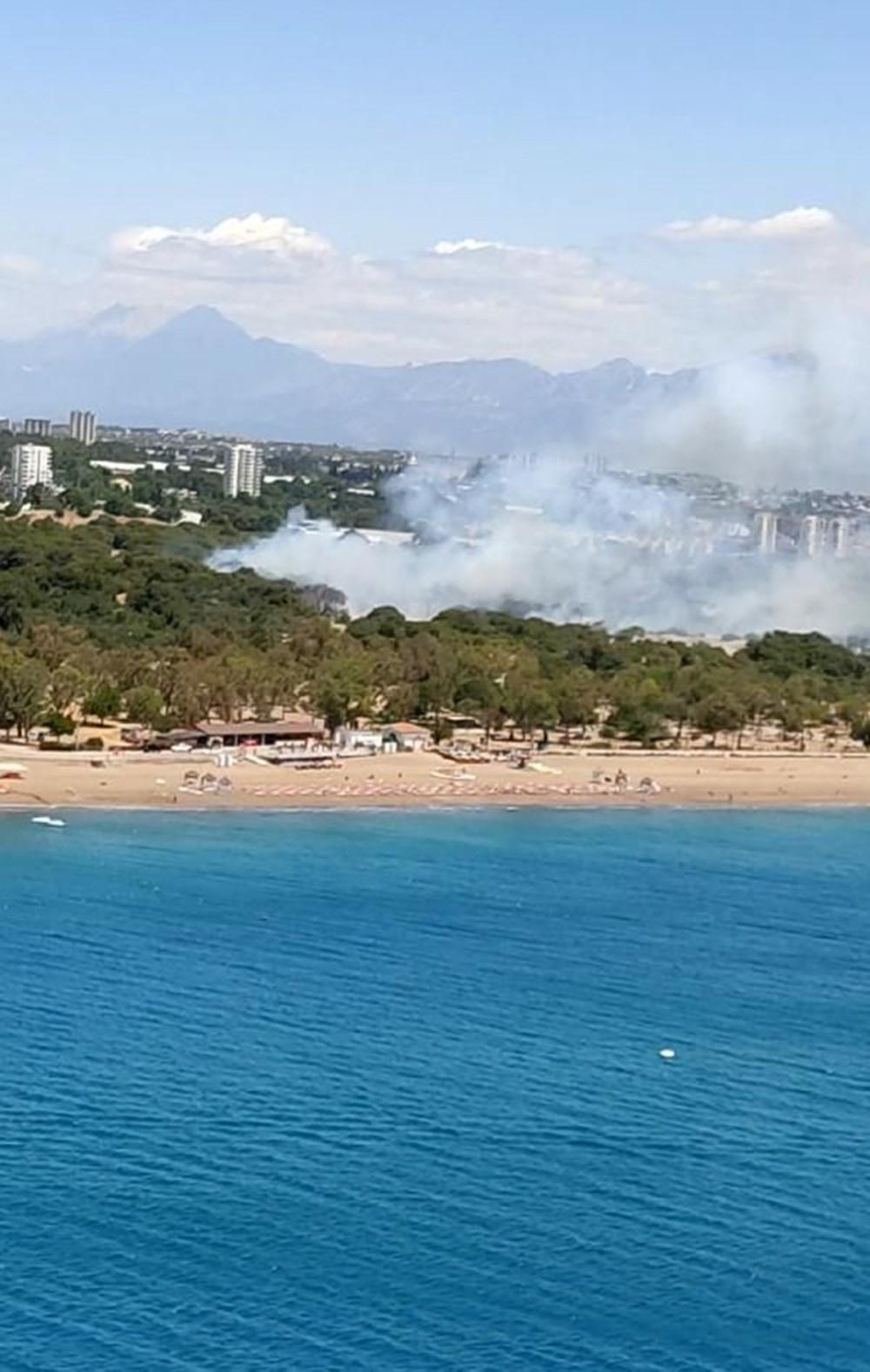 Antalya'da korkutan yangın: Kum taşıdılar - 2