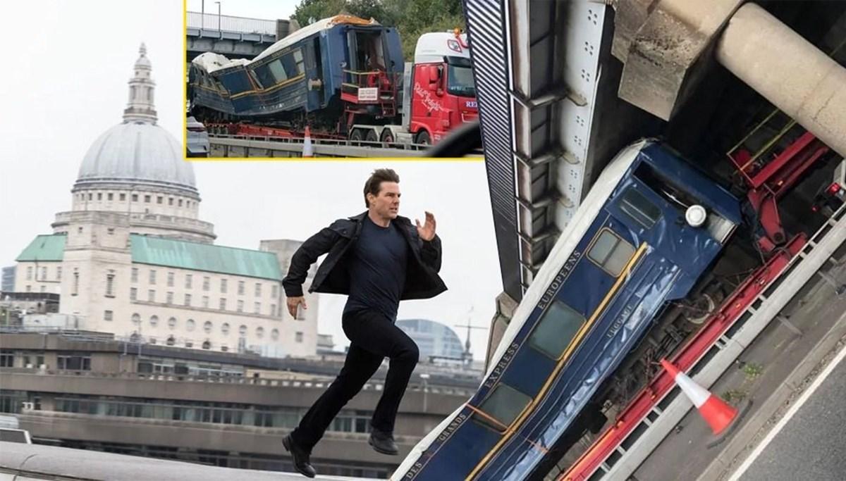 Görevimiz Tehlike 7 (Mission: Impossible 7) filminde kullanılan tren köprüye sıkıştı