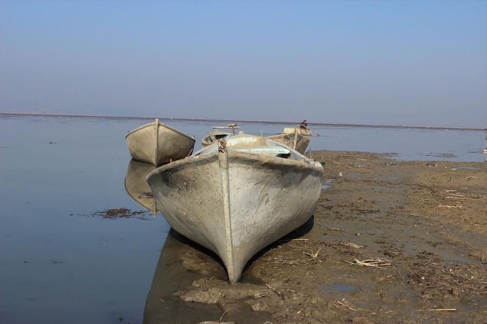 'Kuş cenneti' Marmara Gölü'nde derinlik 40 santimetreye düştü - 11