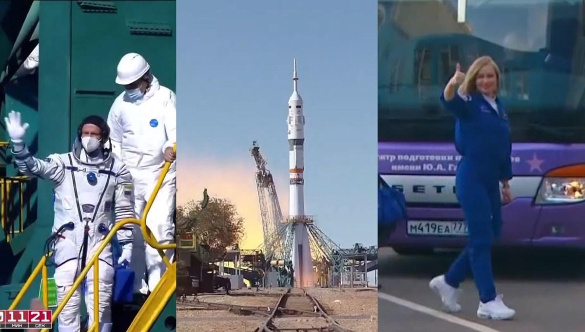 Uzayda film çekecek Rus ekip yola çıktı
