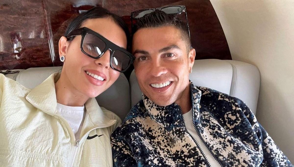 Cristiano Ronaldo ve Georgina Rodriguez'den çok konuşulan özel uçak pozu