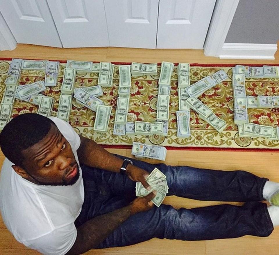 50 Cent, dünya çapında 38 milyon satan albümlerin her birinden sadece 10 cent kazandığını, rol aldığı 2 filmden 100'er bin dolar aldığını belirterek servetinin açıklananın aksine 4.4 milyon dolar olduğunu iddia ediyor.