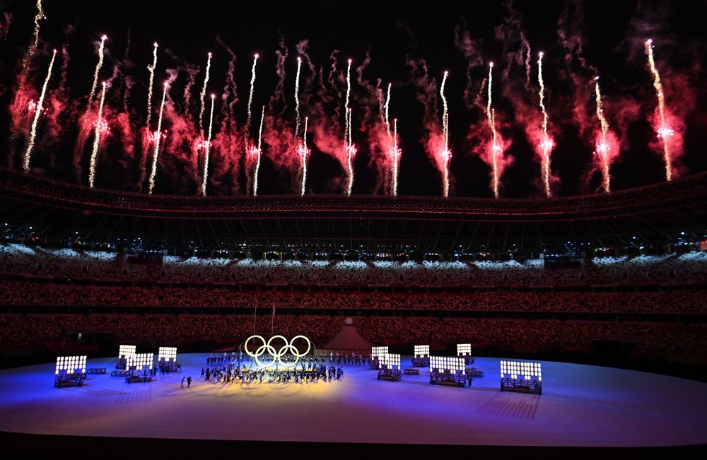 2020 Tokyo Olimpiyatları görkemli açılış töreniyle başladı - 55
