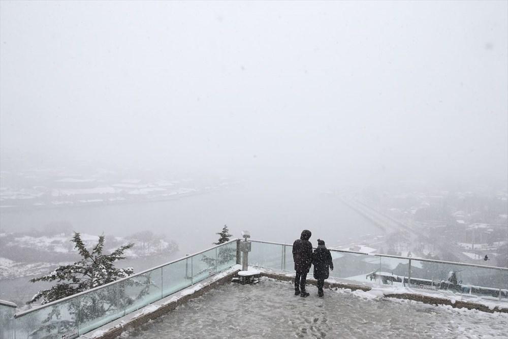 İstanbul'da kar yağışı devam ediyor - 26