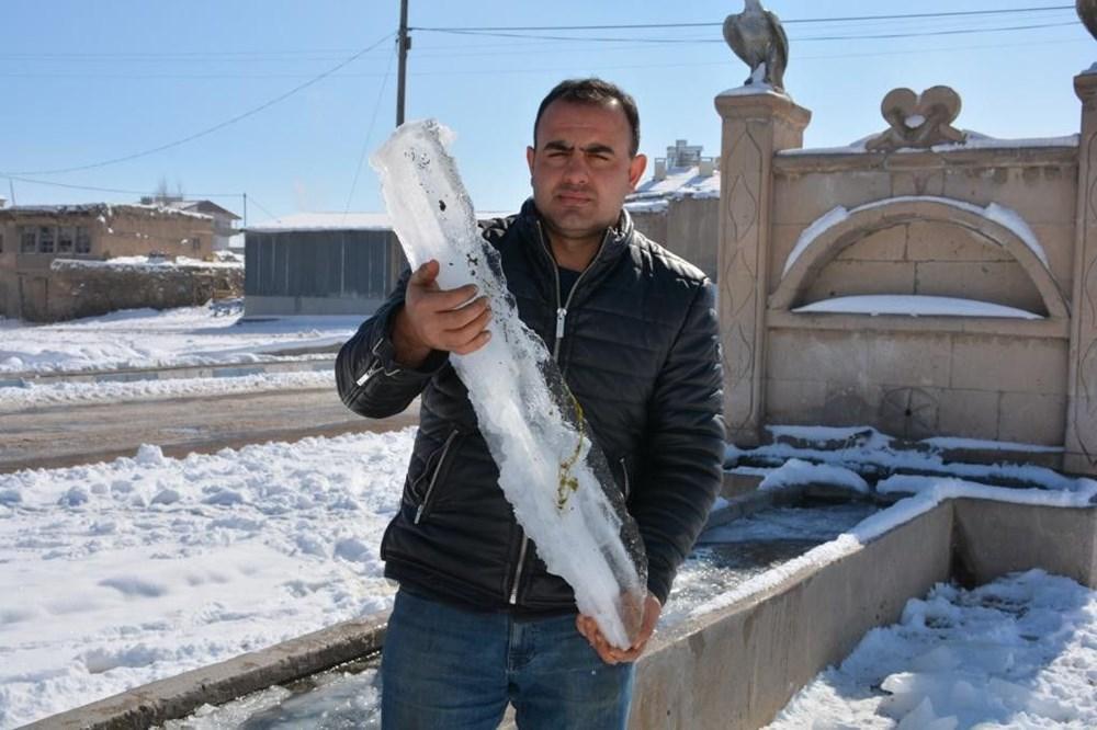Türkiye'nin en soğuk yeri Sivas Altınyayla oldu, Kızılırmak kısmen buz tuttu - 2