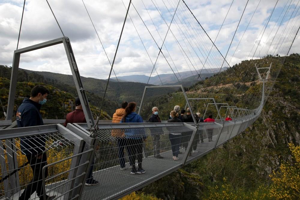 Yayalara özel en uzun asma köprü açıldı - 5