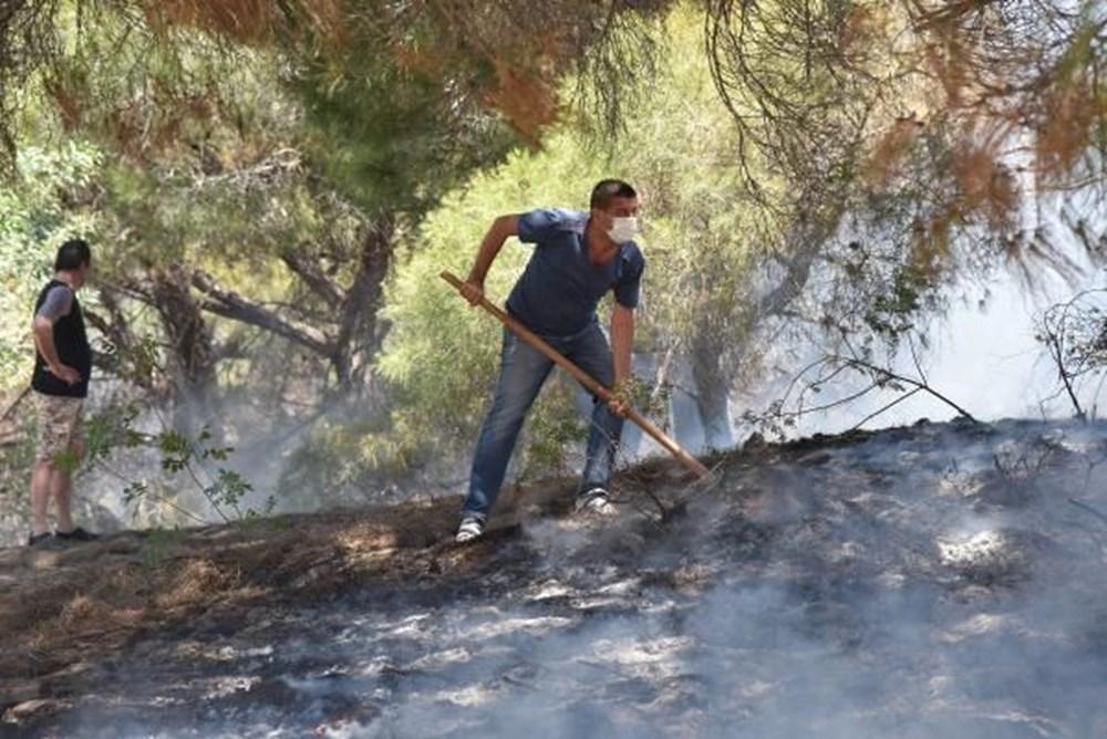 Antalya'da korkutan yangın: Kum taşıdılar - 11