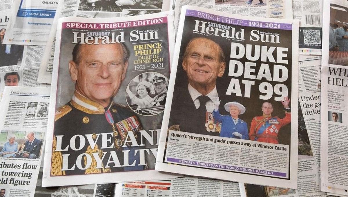 İngiltere basınında Prens Philip'in ölümü