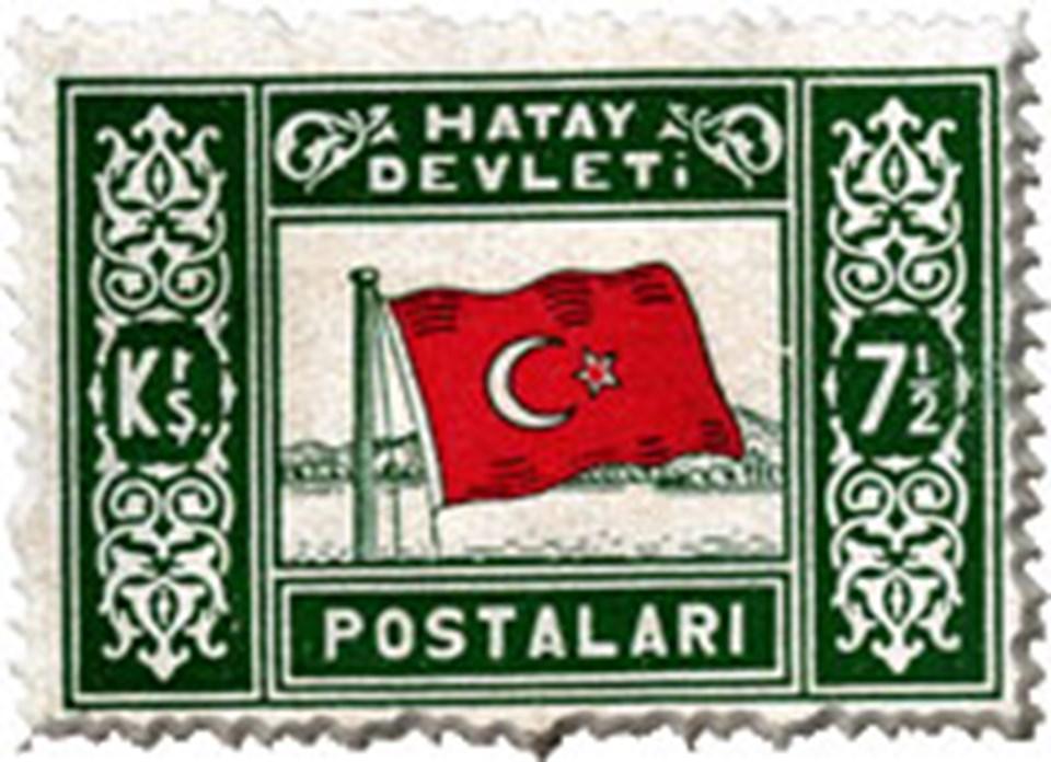 Hatay Devleti Postalarının bastığı bir pul