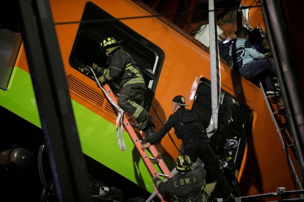 Meksika'da tren raylarını taşıyan üst geçit çöktü: 15 kişi öldü, 70 kişi yaralandı - 2