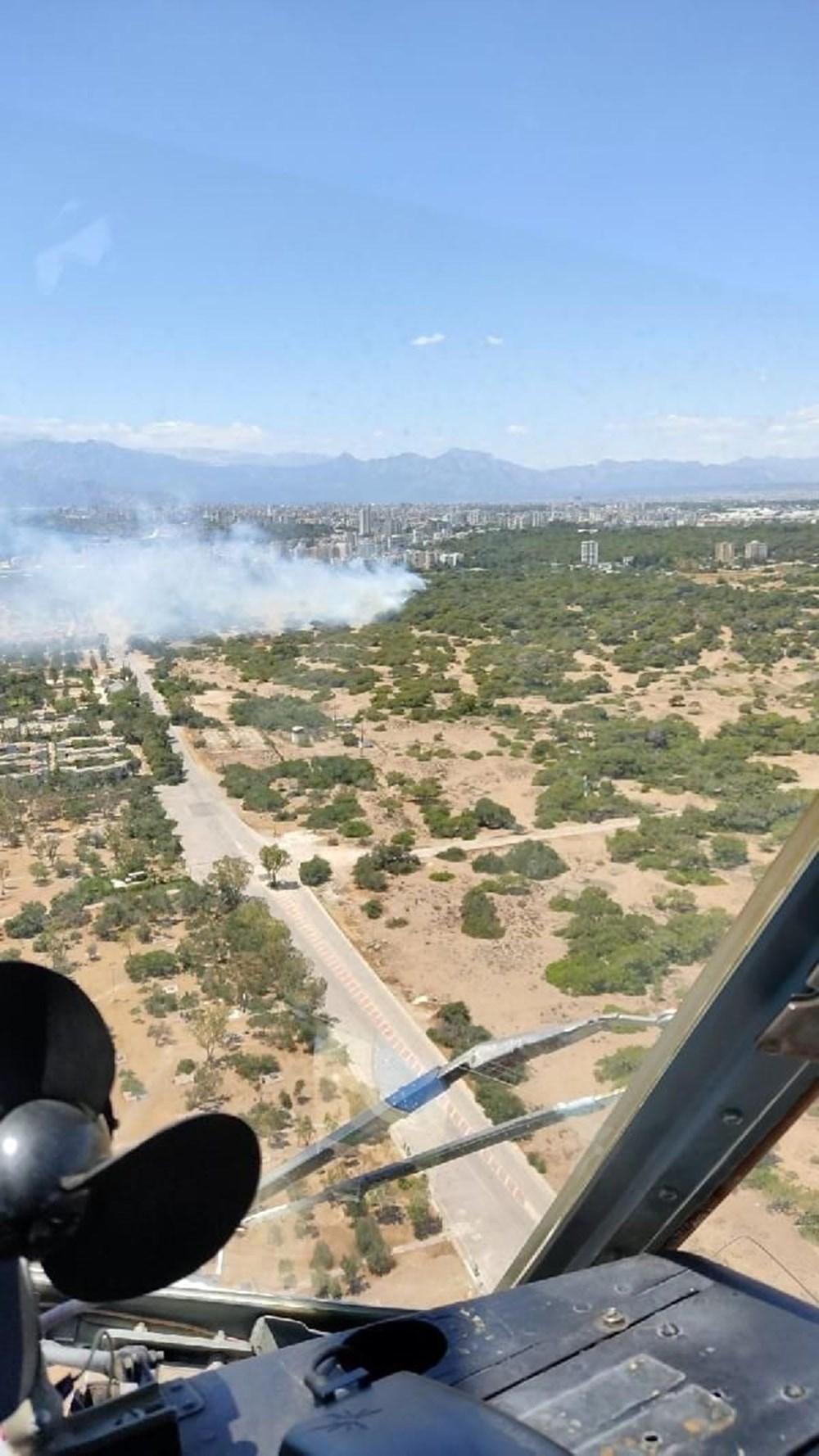 Antalya'da korkutan yangın: Kum taşıdılar - 8