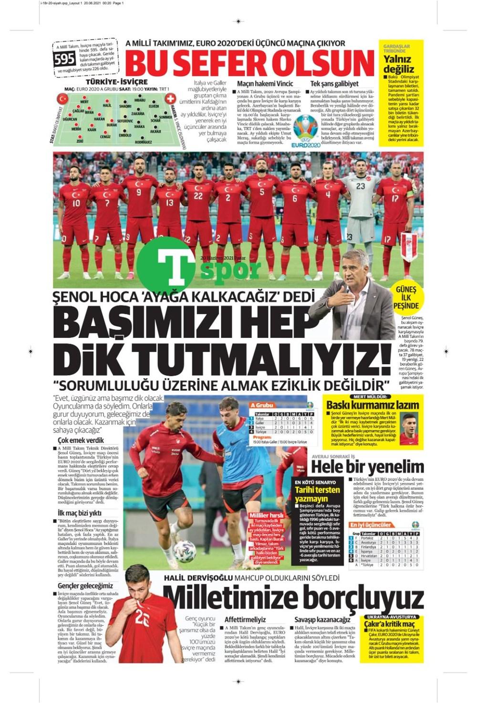 Günün spor manşetleri (20 Haziran 2021) - 24