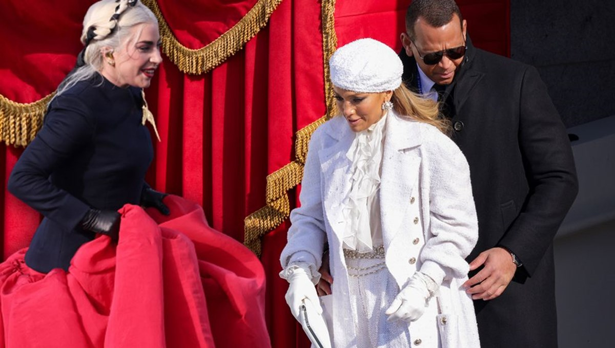 Lady Gaga ve Jennifer Lopez'in yemin töreni stili