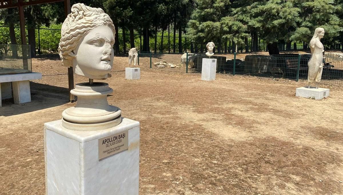 Dünyanın en eski kehanet merkezi Klaros'ta kült heykeller restore edilecek