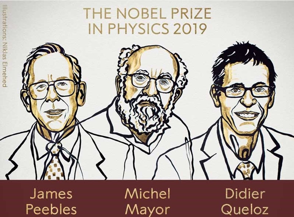 Nobel Fizik Ödülü'nü alan araştırmacılar.