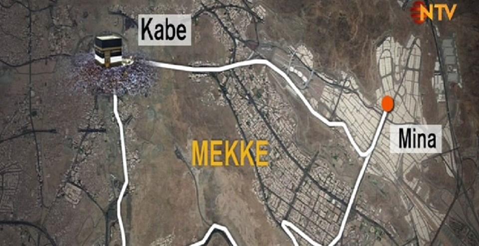 İzdiham Mekke kentinin 5 kilometre dışında bulunan Mina'da meydana geldi.İzdihamın yaşandığı 204 numaralı sokak, hacı adaylarının Mina'da şeytan taşladığı bölgeye giden iki anayoldan biri.