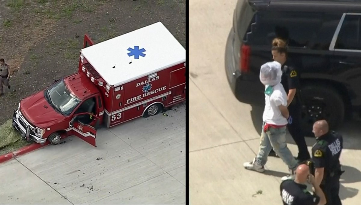 The chase like a movie: He ran away for 2 hours with the ambulance he stole