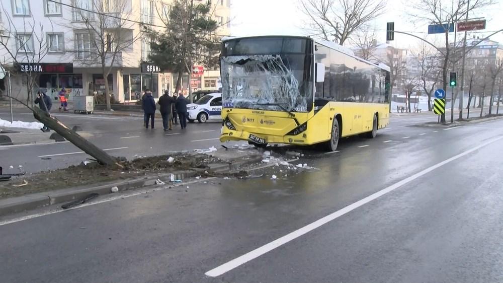 Sancaktepe'de İETT otobüsüyle minibüs çarpıştı: 7 yaralı - 6