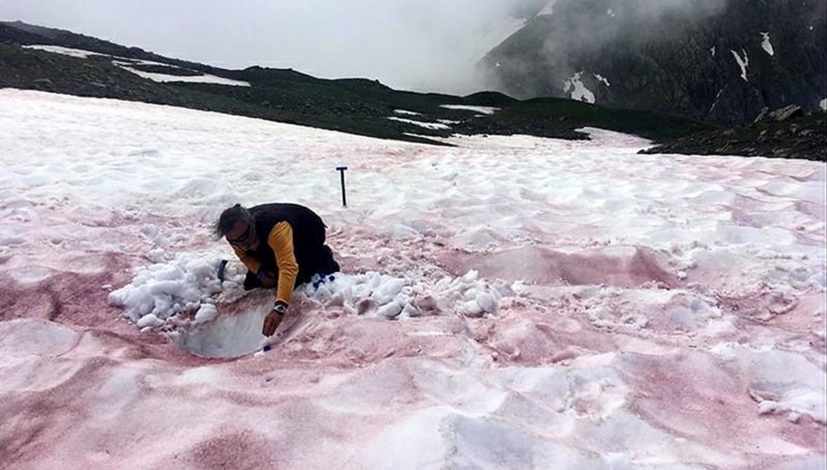Alpler'de 'kırmızı kar' görüldü